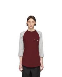 T-shirt à manche longue imprimé bordeaux Comme Des Garcons SHIRT