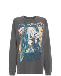 T-shirt à manche longue imprimé gris foncé R13