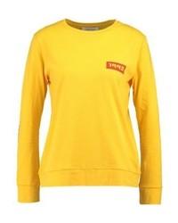 T-shirt à manche longue imprimé jaune Samsøe & Samsøe