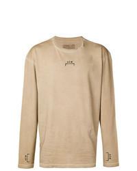 T-shirt à manche longue imprimé marron clair