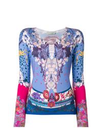 T-shirt à manche longue imprimé multicolore Etro