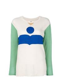T-shirt à manche longue imprimé multicolore Isabel Marant Etoile