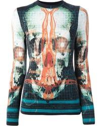 T-shirt à manche longue imprimé multicolore Jean Paul Gaultier