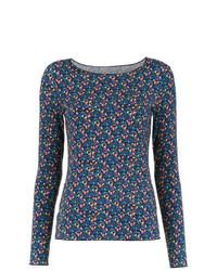 T-shirt à manche longue imprimé multicolore Track & Field
