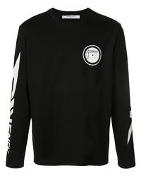T-shirt à manche longue imprimé noir et blanc Givenchy