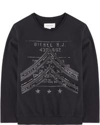 T-shirt à manche longue imprimé noir