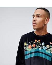 T-shirt à manche longue imprimé noir ASOS DESIGN