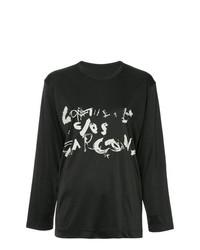 T-shirt à manche longue imprimé noir Comme Des Garçons Vintage