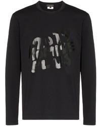 T-shirt à manche longue imprimé noir Comme Des Garcons Homme Plus
