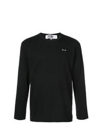 T-shirt à manche longue imprimé noir Comme Des Garcons Play