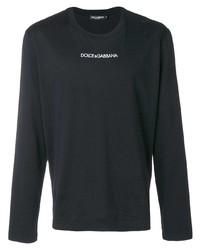 T-shirt à manche longue imprimé noir Dolce & Gabbana