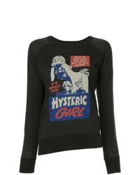 T-shirt à manche longue imprimé noir Hysteric Glamour
