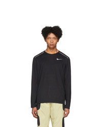 T-shirt à manche longue imprimé noir Nike