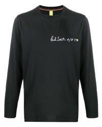 T-shirt à manche longue imprimé noir Paul Smith