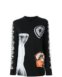 T-shirt à manche longue imprimé noir Proenza Schouler