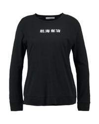 T-shirt à manche longue imprimé noir Samsøe & Samsøe