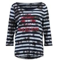 T-shirt à manche longue imprimé noir True Religion