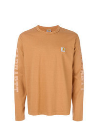 T-shirt à manche longue imprimé orange