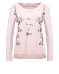 T-shirt à manche longue imprimé rose Only