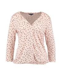 T-shirt à manche longue imprimé rose Tom Tailor
