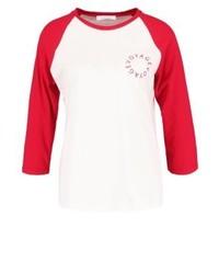 T-shirt à manche longue imprimé rouge Samsøe & Samsøe