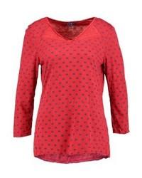 T-shirt à manche longue imprimé rouge Tom Tailor