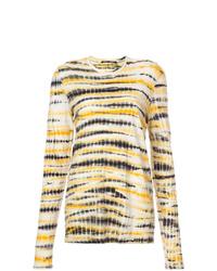 T-shirt à manche longue imprimé tie-dye jaune Proenza Schouler