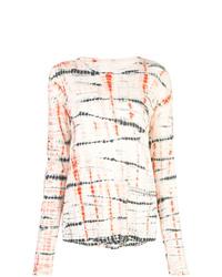 T-shirt à manche longue imprimé tie-dye multicolore Proenza Schouler
