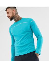 T-shirt à manche longue imprimé turquoise Asics