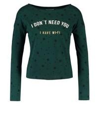 T-shirt à manche longue imprimé vert foncé SPRINGFIELD