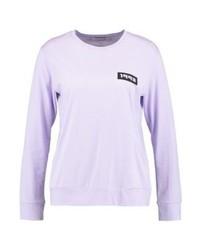 T-shirt à manche longue imprimé violet clair Samsøe & Samsøe