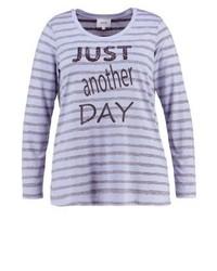 T-shirt à manche longue imprimé violet clair Zizzi