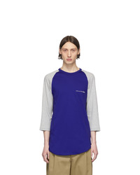T-shirt à manche longue imprimé violet Comme Des Garcons SHIRT