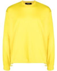 T-shirt à manche longue jaune DSQUARED2