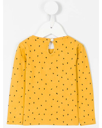 T-shirt à manche longue jaune Emile et Ida