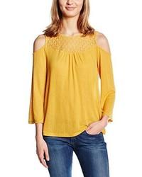 T-shirt à manche longue jaune Only