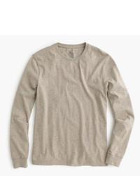 T-shirt à manche longue marron clair