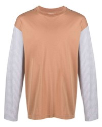 T-shirt à manche longue marron clair Marni