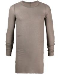 T-shirt à manche longue marron clair Rick Owens