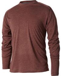 T-shirt à manche longue marron