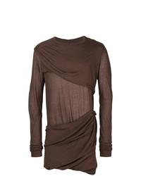 T-shirt à manche longue marron Rick Owens