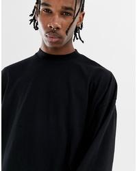 T-shirt à manche longue noir ASOS DESIGN