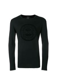 T-shirt à manche longue noir Balmain