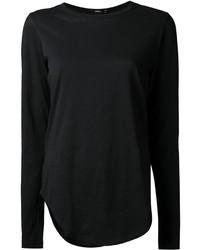 T-shirt à manche longue noir Bassike