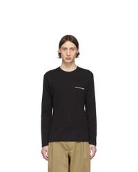 T-shirt à manche longue noir Comme Des Garcons SHIRT