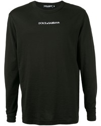 T-shirt à manche longue noir Dolce & Gabbana