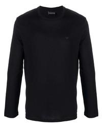 T-shirt à manche longue noir Emporio Armani
