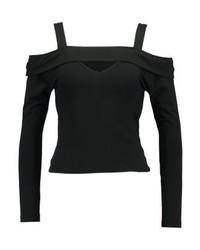T-shirt à manche longue noir Even&Odd