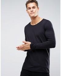 T-shirt à manche longue noir Hugo Boss