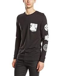 T-shirt à manche longue noir Jack & Jones